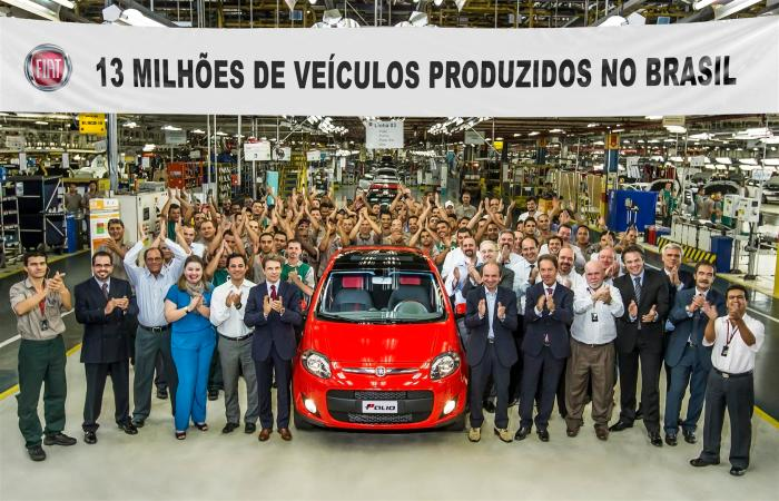 In April 2013, the Betim factory produced the unit number 13 million, after 37 years of its inauguration.