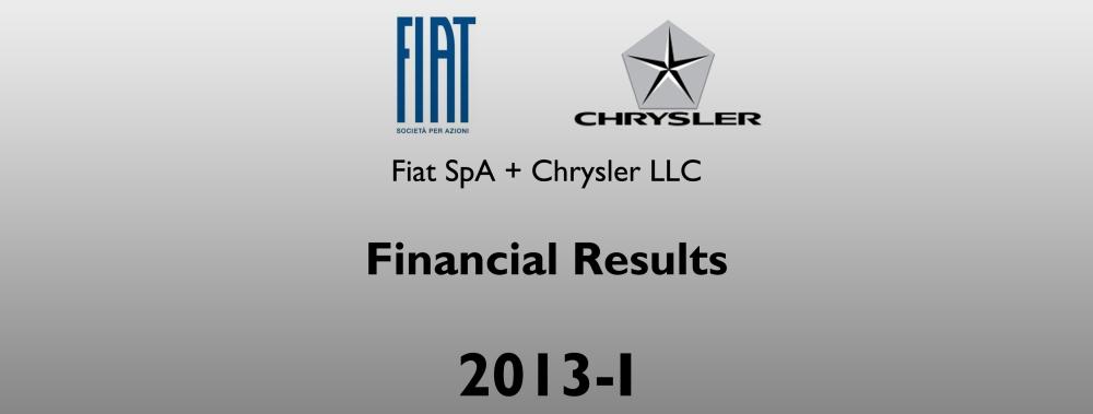 Fiat Chrysler financial results 2013 I