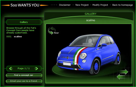 'Fiat 500 wants you'