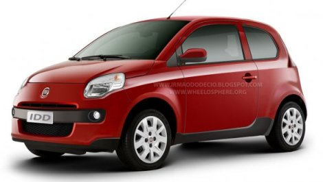 In 2010 Autoblog Italia made this rendering of how they think the new Fiat city-car will look. Fiat needs urgently a small and cheap car to continue with the legacy of the Mille. Rendering by Autoblog Italia.