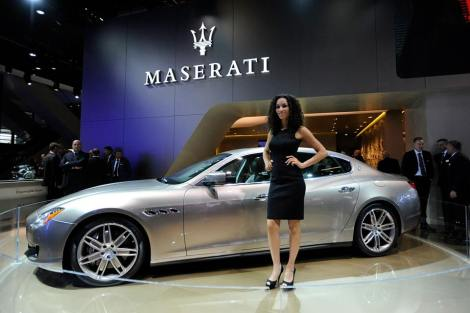 """The Maserati Quattroporte Ermenegildo Zegna Limited Edition concept car features a unique new look in colour scheme, materials and finish.  The car, presented as a limited edition concept, is intended for development into a production version with the same personality and quality of the current range, yet enhancing its exclusivity"""