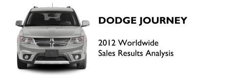 Dodge Journey 2012 sales
