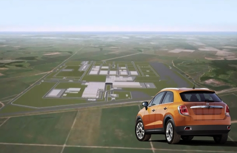This is how Pernambuco new plant will look bu early 2015. It is located in Goaina, PE, in North-East part of Brazil. 7 thousand people are working now in this new complex, that will host 4 thousand direct employes. Fiat 500 suv illustration made by Car and Driver.
