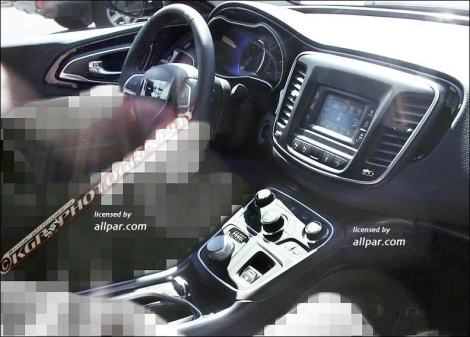 The interior of the new 2014 Chrysler 200 / 2015 Lancia Flavia. It looks quite nice. Photo by: allpar.com