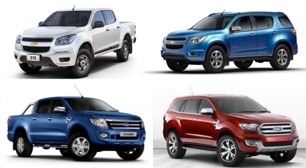 Even if the Trailblazer (up right) and the Everest (bottom right) belong to D-SUV segment (they are quite big to be in C-SUV), they use the body architecture of mid-size pickups. Fiat could do something similar from a mid-size pickup developed along with Chrysler, and create a C-SUV.