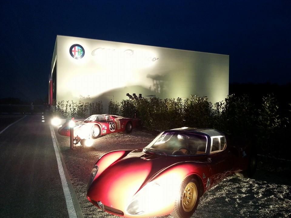 Two other Alfa treasures received the guests just before getting inside the structure.