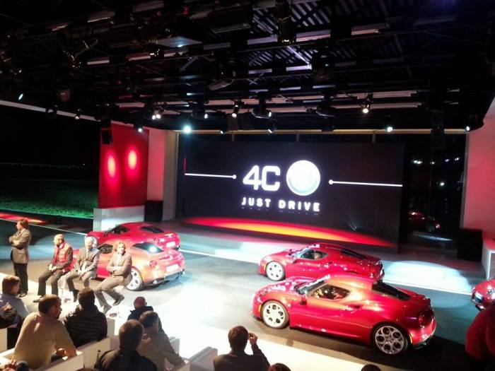 Alfa Romeo 4C Press Conference Balocco