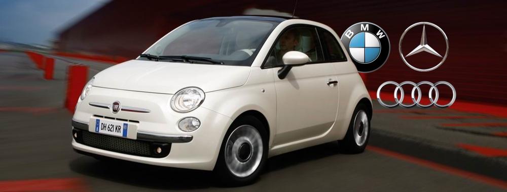 Fiat 500 agains premium germans