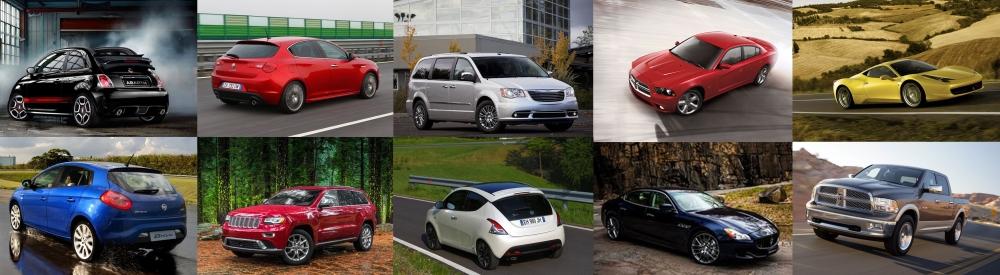 Fiat Chrysler current range