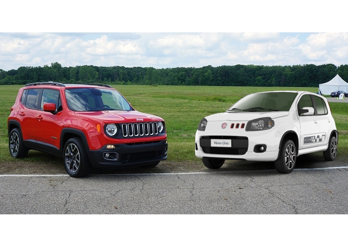 S O Paulo Motor Show 2014 Jeep Renegade And New Fiat Uno