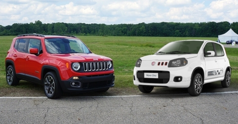 Fiat Uno and Jeep Renegade Brazil