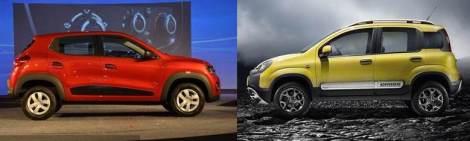 Renault Kwid & Fiat Panda Cross