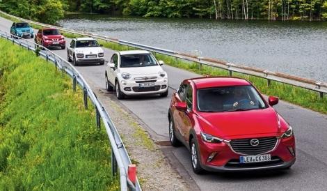 This month the Mazda CX-3, Suzuki Vitara and Ssangyong Tivoli were added to the analysis