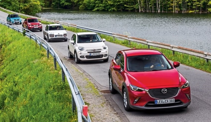 This month the Mazda CX-3, Suzuki Vitara and Ssangyong Tivoli were added to the analysis