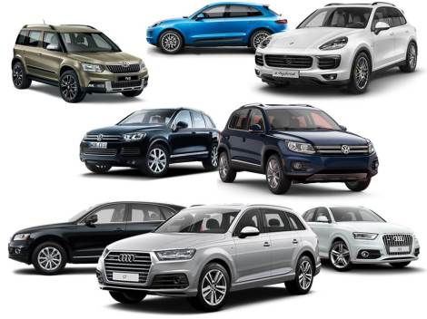 Currently VW Group SUV range is composed by 8 different nameplates: 1 B-SUV, 2 C-SUVs, 2 D-SUVs and 3 E-SUVs. For comparison reasons, Jeep as a brand has 6 different nameplates.